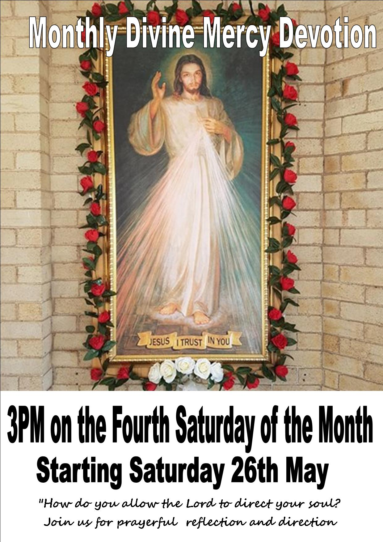 May Divine Mercy Devotion Poster