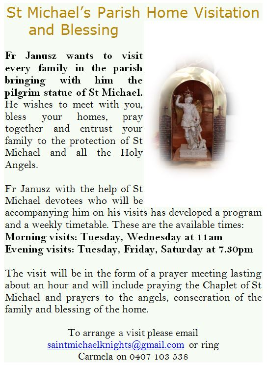 St Michael Home Visitation poster